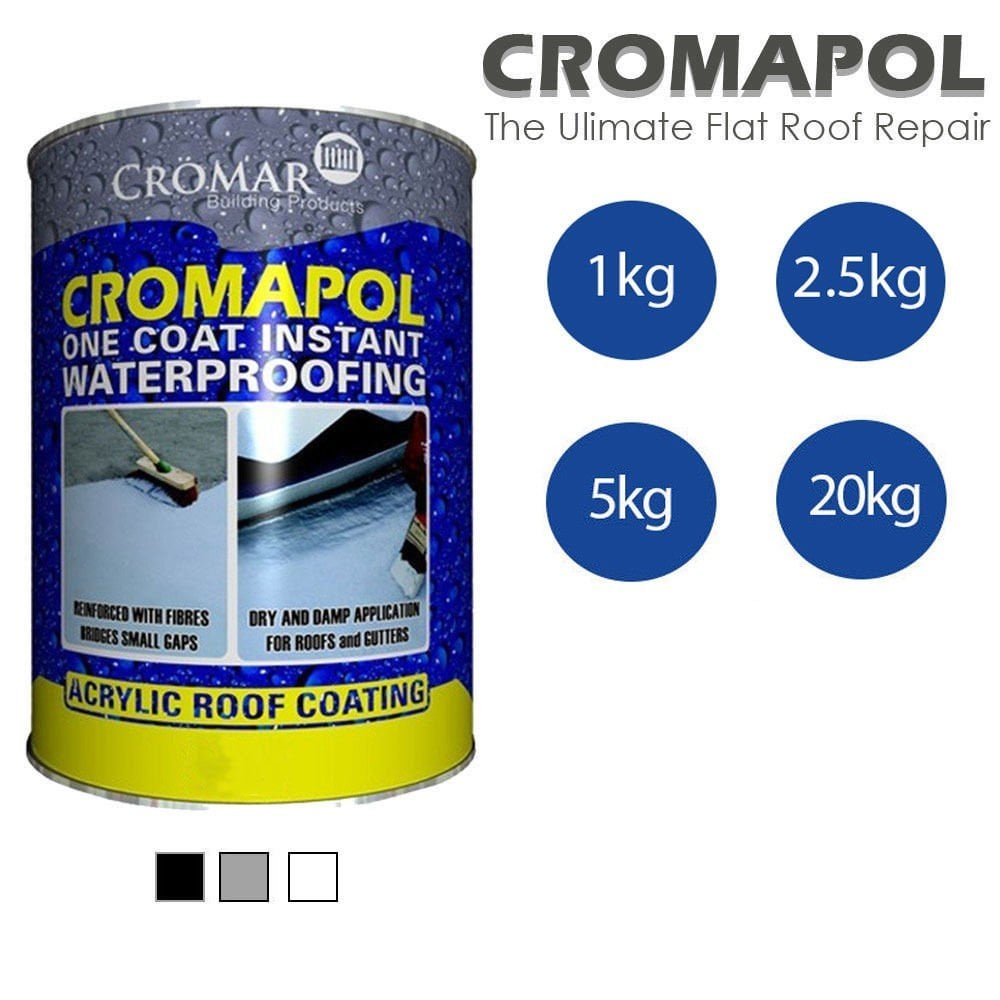 Cromapol 1-20KG Cromapol 1-Coat Roof Sealant Paint - Various Colours