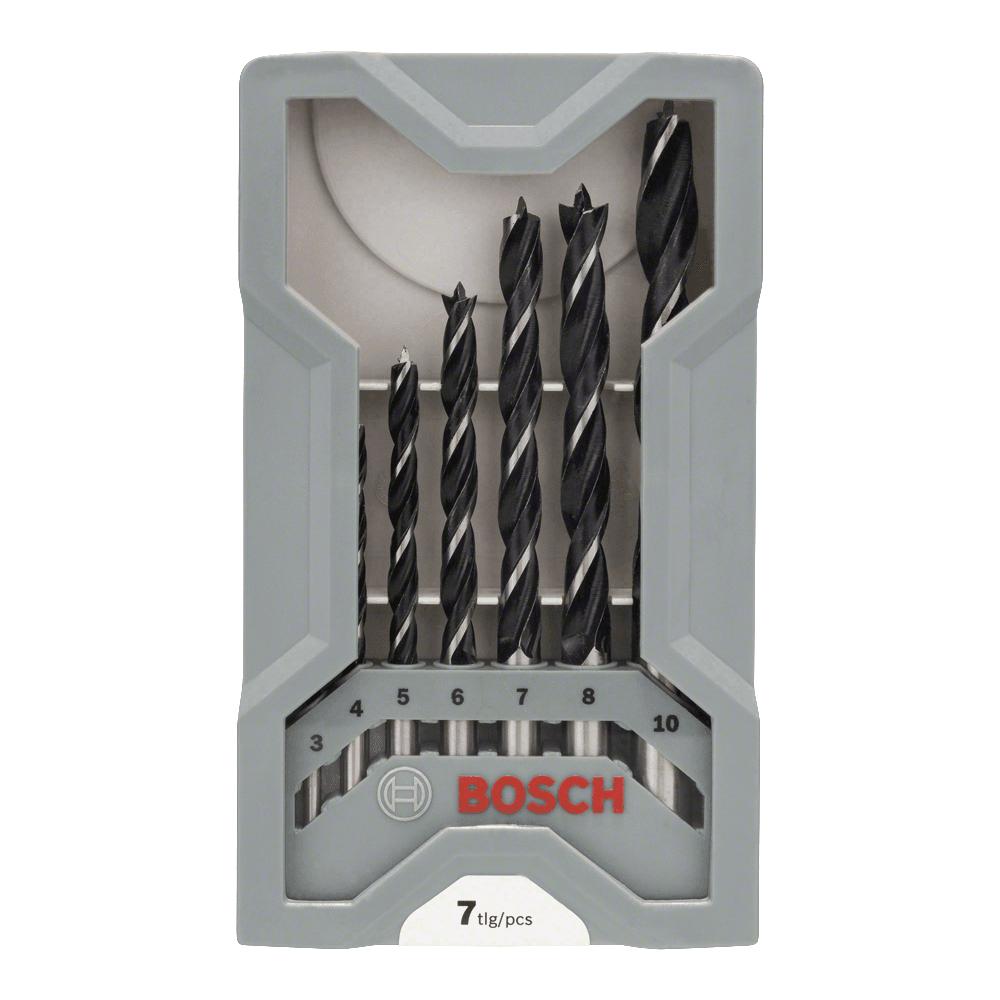 Bosch 7 Piece Wood Drill Bit Set