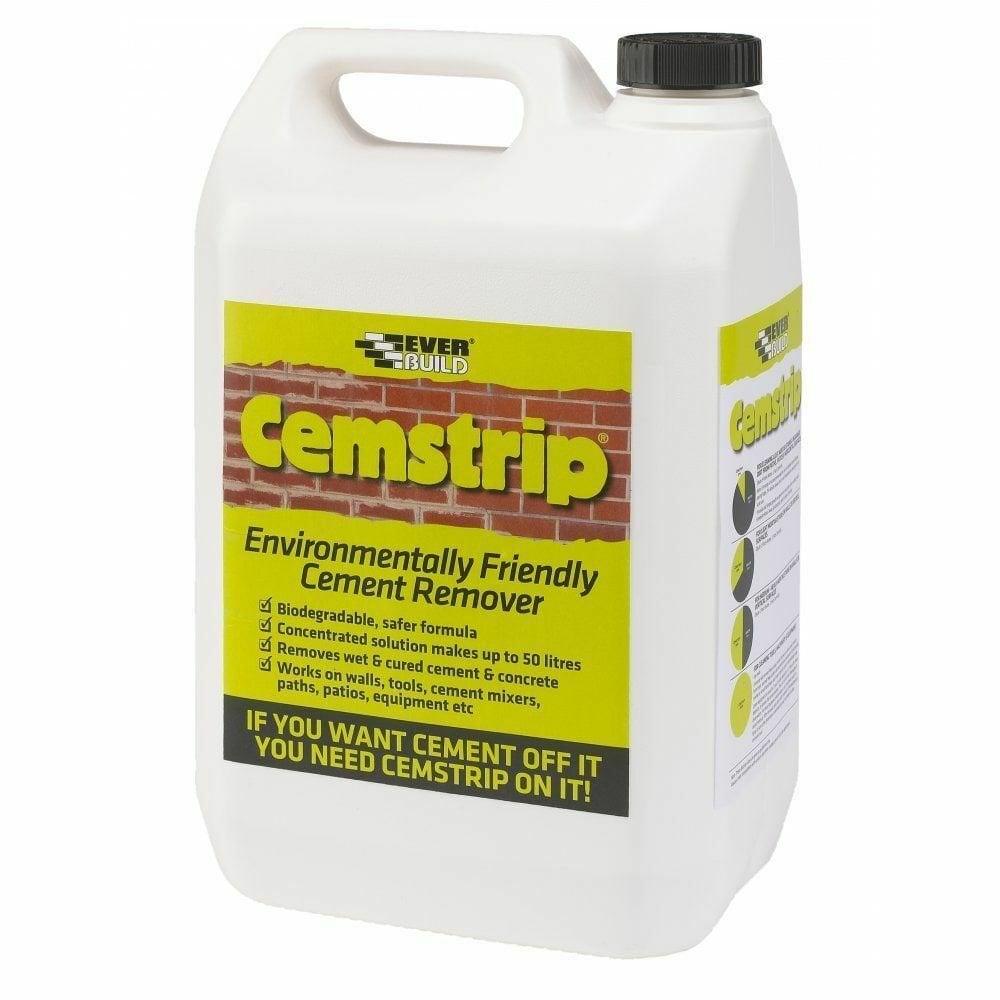 Concrete Stain Remover >> Everbuild Cemstrip Eco Friendly Cement Mortar Concrete Stain Remover 5 Litre