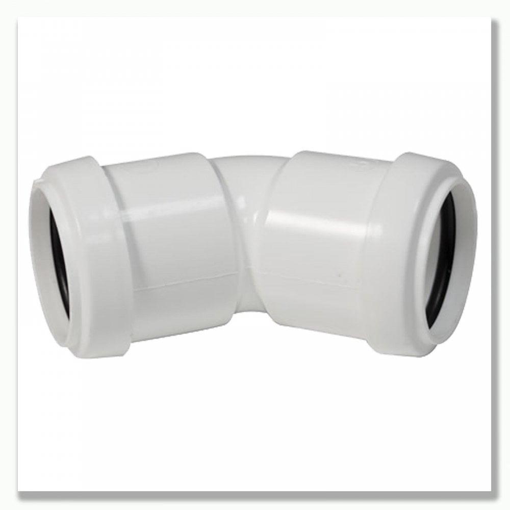 FLOPLAST 40mm White Pushfit Waste Pipe Conversion Bend