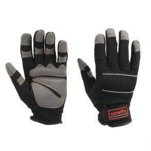 Scruffs PRECISION Max Performance Gloves TWIN PACK Mechanics Fingerless Worker